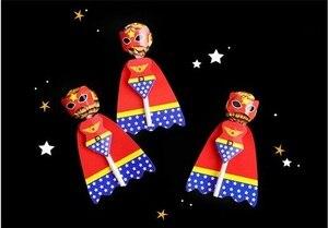 Image 5 - 18pcs Del Fumetto Della Caramella Lollipop Decorazione di Carte Per I Bambini Forniture Festa Di Compleanno Del Regalo Della Caramella Accessori