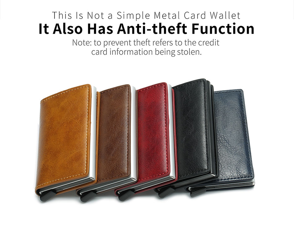 Mens Small Slim Leather Wallets Rfid Card Holder 26