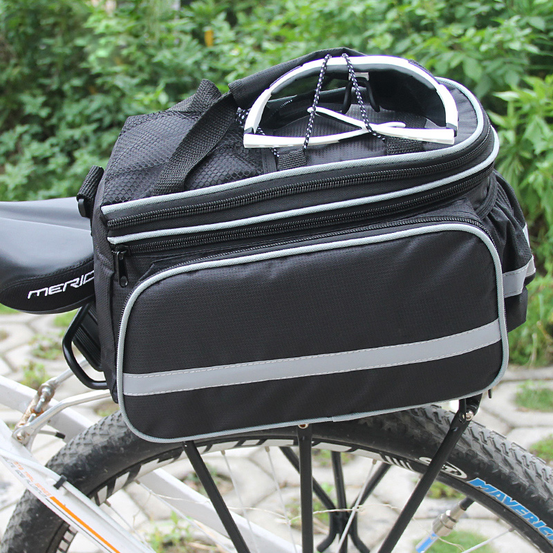 High Quality Big Capacity Cycling Bicycle Bag Bike Rear Seat Trunk Bag Bike Panniers Bicycle Seat Bag Accessories Bags Cycling wheel up bicycle rear seat trunk bag full waterproof big capacity 27l mtb road bike rear bag tail seat panniers cycling touring