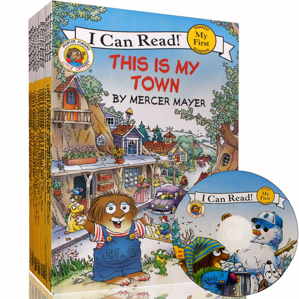 15 Books+CD I Can Read Little Critter English Picture Story Book For Kids Education Learning Toys Parent Child Reading Book Gift    1