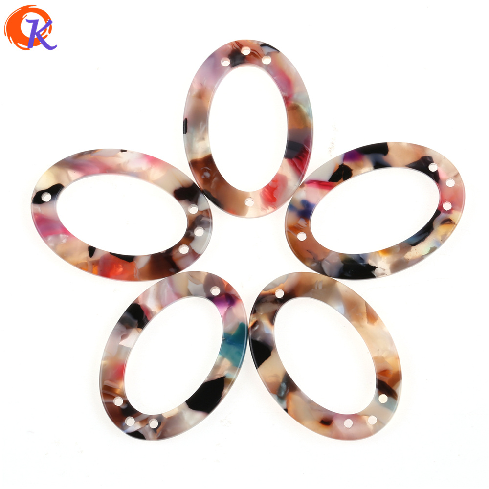 Cordial Design 25x35MM 50Pcs Earring Findings/Hand Made/Oval Shape/Acetic Acid Bead/Earrings Jewelry Making/Jewelry Accessories