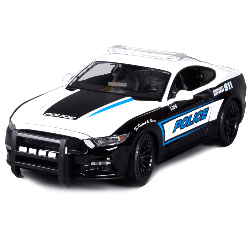 Maisto 1:18 ford mustang gt black white car diecast for police cool motorcar diecast for collecting car models presents 36203 hot sale ford mustang police 1 18 welly s281 original alloy car model toy matte black fast