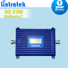 Libérez le bateau écran LCD 3 G WCDMA 2100 mhz 70dB Gain téléphone portable répéteur de Signal 20dBm sortie puissance Mobile téléphone cellulaire Booster