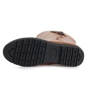 Image 5 - GKTINOO Winter Boots Wool Fur Inside Warm Shoes Women Wedges Heels Soft Leather Shoes Platform Snow Boots Footwear Botas