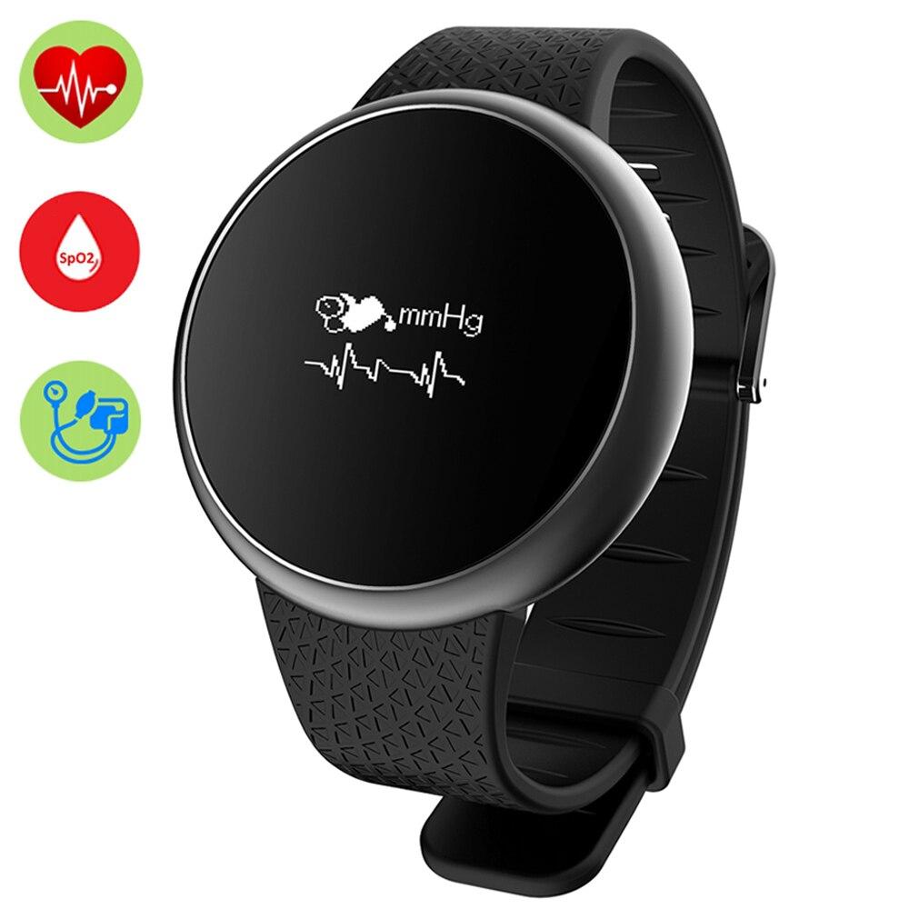 Vervoering Smart Pols Band A98 Horloge Fitness Track Bloeddruk Zuurstof Monitor Hartslag Armband Polsband Waterdicht Voor Ios Android Fijn Verwerkt