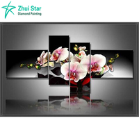 Needlework Diamond Embroidery Diy Diamond Mosaic Rhinestones Painting Embroidery Cross Diamond Painting Dream Flower 4 Pcs