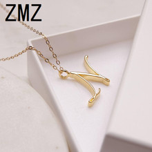 hot deal buy zmz 2018 europe/us fashion english letter pendant lovely letter n text necklace gift for mom/girlfriend party jewelry