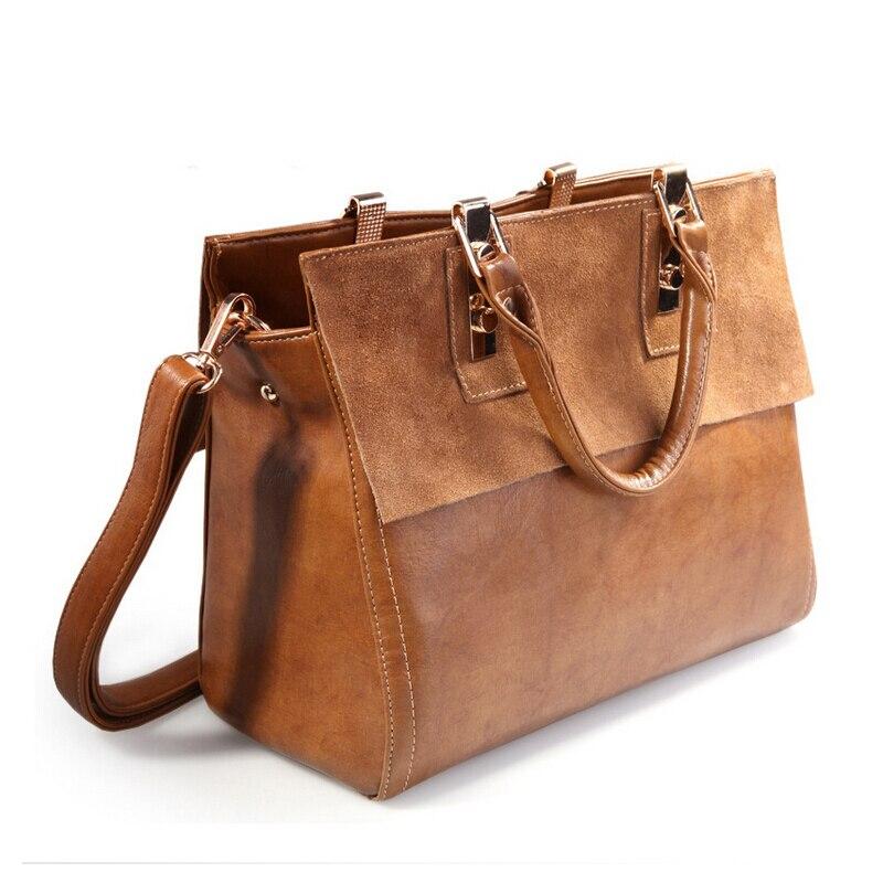 ФОТО European fashion design brand leather women tote bag matte leather fashion boston OL lady shoulder bags high quality handbag 111