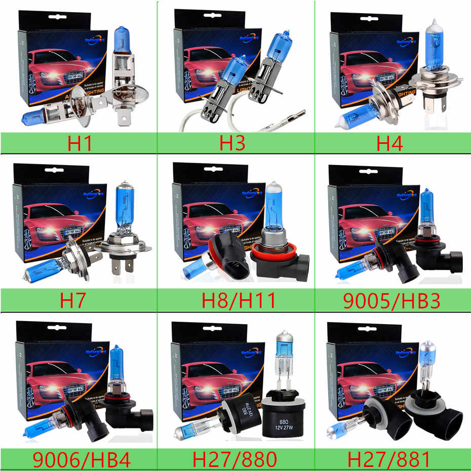 H4 H7 Headlight Halogen Bulbs H3 H1 H11 9005 HB3 9006 HB4 9007 9004 12V 55W 100W 5000k Super Bright Fog Lights Auto Lamp