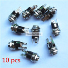 10pcs New DC Power Supply Jack Socket Female Panel Mount Connector 5.5x2.1mm