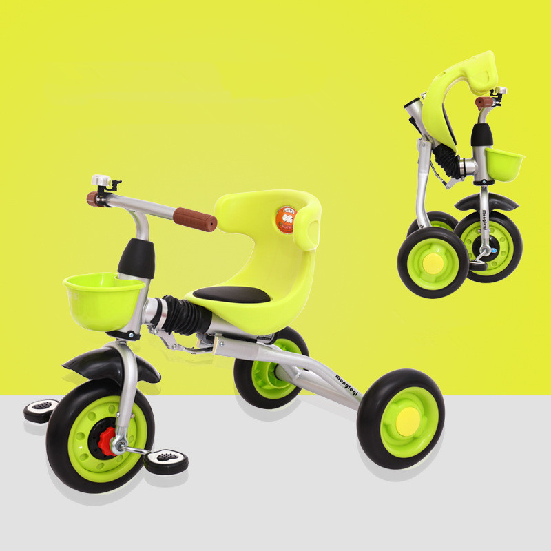 Folding Children's Tricycle Bicycle Lightweight Baby Bike 1-3 year Old Baby Stroller Kids Ride on Tricycle Children's Toys Gifts 2017 new arrival good price ride on bike also tricycle bicycle cart baby stroller children 1 3 5 years old children s bicycle