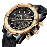Relogio Masculino LIGE Mens Watches Top Brand Luxury Watch Men Military Leather Clock Waterproof Sports Chronograph