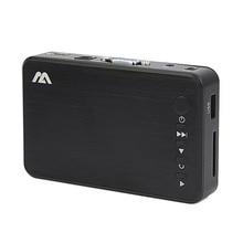 Мини Full HD медиа мультимедиа плеер Autoplay 1080P USB внешний HDD SD U диск RMVB AVI MKV медиаплеер с HDMI VGA AV выходом