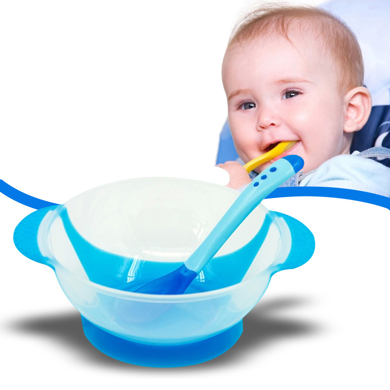Barnrett Feeding Bowl Matplater Feeder Food Container Barnevarer til - Baby mating - Bilde 4