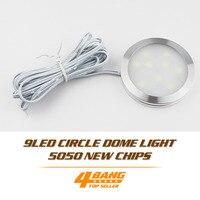 50 шт DC 12 V холодный белый Светодиодный свет шкафа 9 светодиодный SMD5050 шайбу лампа с цоколем лампа для плафона лампы Spotlight + подключить провод +