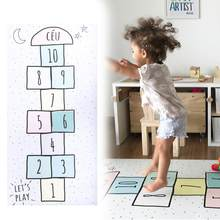 Numbers Hopscotch Fun Baby Toys Children Puzzle Play Mat Jumping Game Exercise Gym Tile Floor Pad for Kids(China)