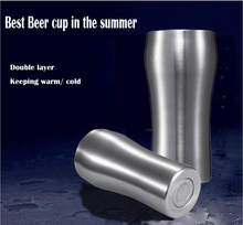 Bier becher doppelwand aus edelstahl halten heißer und kalten tee tassen kaffee becher kalte getränke cooler cup 300 ml