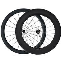 Aero u forma bicicleta de carretera China Sprint ruedas del remachador del carbón 60mm 88mm 700c Triatlón