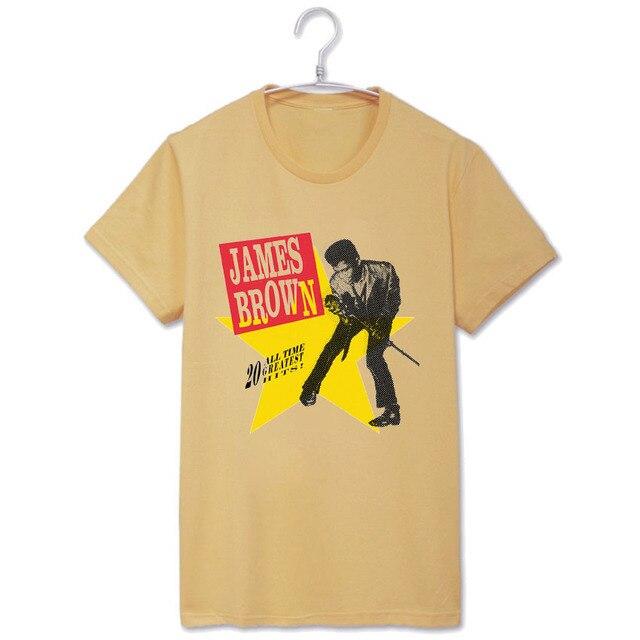 193a027d James brown zingen tee shirt korte mouw t shirt vintage funk mode in James  brown zingen tee shirt korte mouw t-shirt vintage funk mode van T- shirts  ...