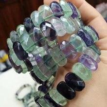Браслет из натурального флюорита бусины камня браслет сделай