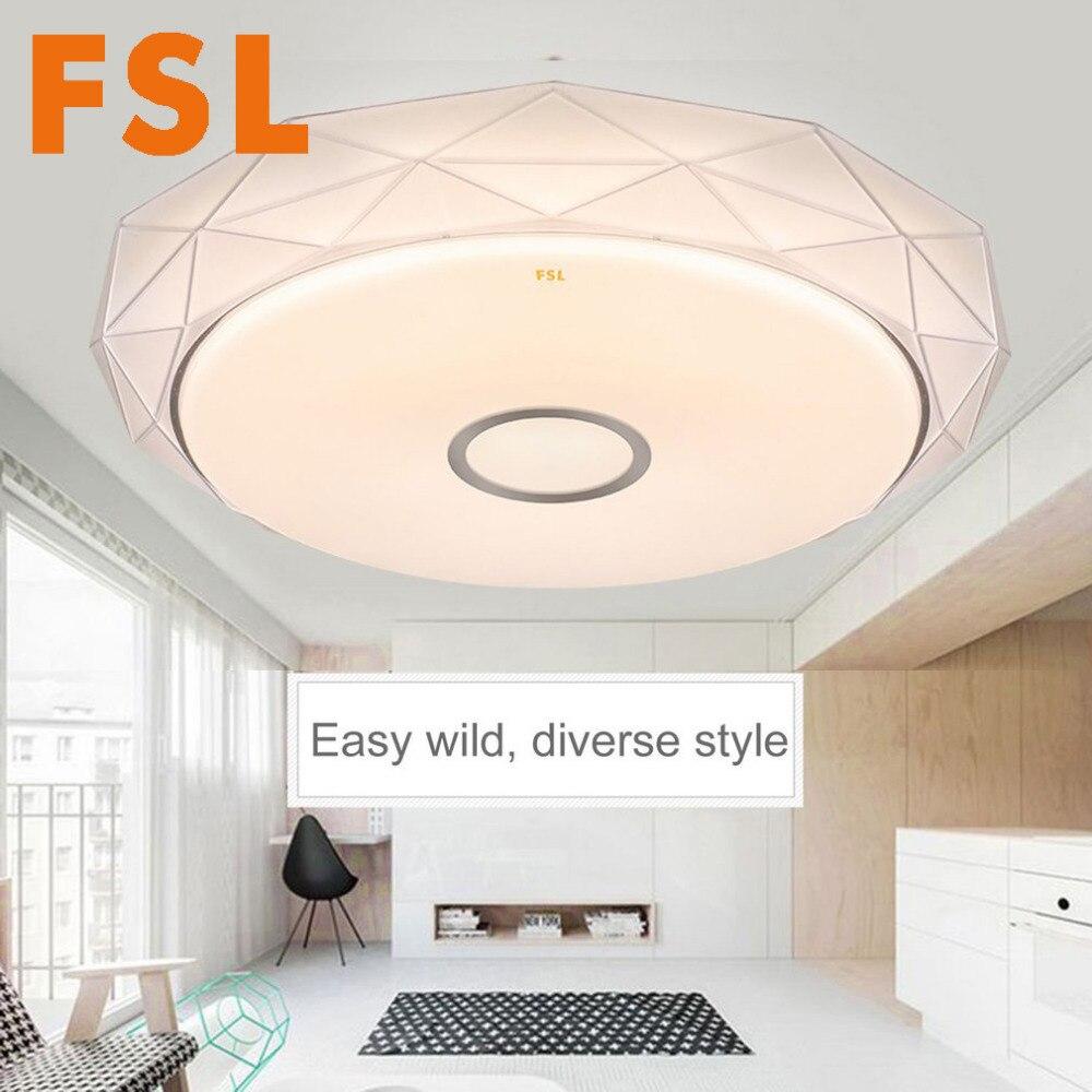 FSL 25 Вт dimmable круглый потолочный светильник Цвет изменения акриловые света на потолке AC 220 В-240 В белый/теплый белый/желтый 35/41 см
