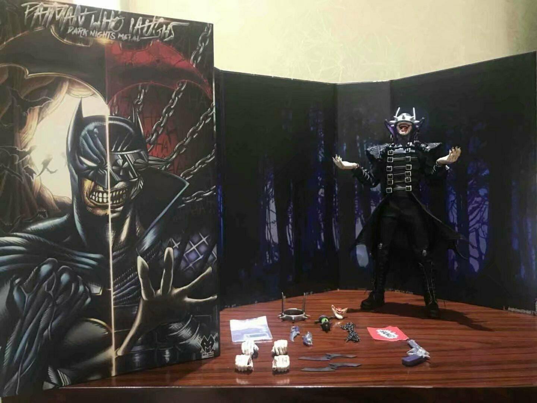Personalizado 1/6 Batman que se ríe de las noches oscuras figura de acción de Metal modelo MX juguetes JX01 colección de juguetes con la cabeza esculpir el cuerpo chaqueta-in Figuras de juguete y acción from Juguetes y pasatiempos    1