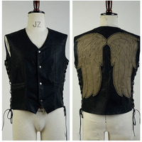 The Walking Dead Governor Daryl Dixon Angle Wings Cosplay Costume Vest Jacket For Male