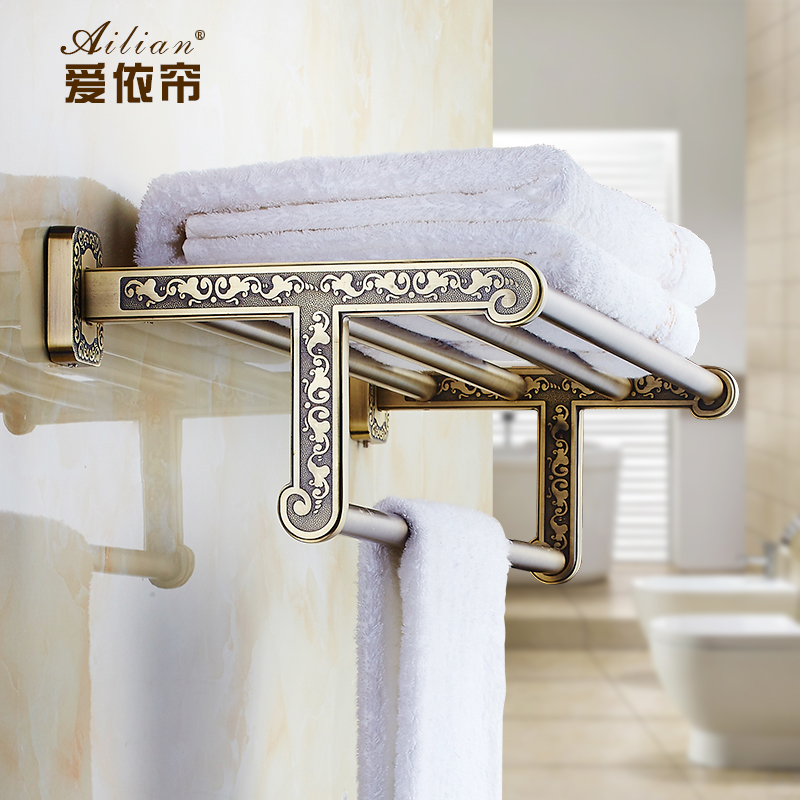 European Luxury Antique British Buckingham Palace Carved Towel Rack Hanging Rod Bathroom Accessories free shipping картридж hp 920xl cd975ae