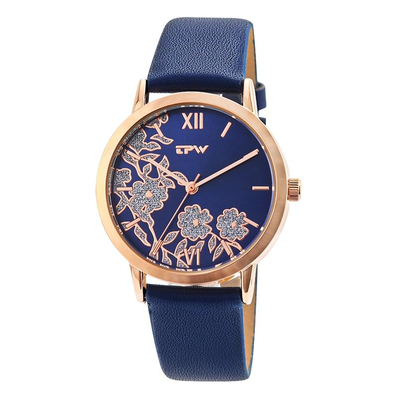Drop Shipping Fashion Women Roman Wrist Watch for lady Watch Relogio Feminino glitter flower watch for women glittering flower