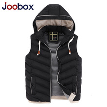 JOOBOX Brand Colete Men 2016 New Stylish Autumn Winter Vest Men High Quality Hood Warm Sleeveless Jacket Waistcoat Men