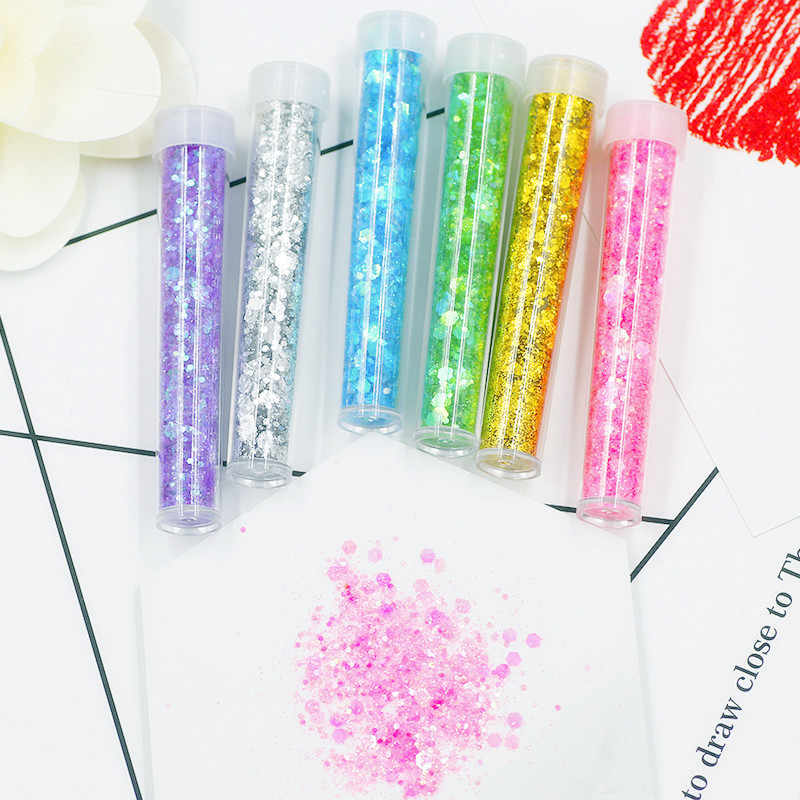 3.5g Sequin/Glitter Filler Clear/Fluffy Slime Box Toys for Children Charms Modeling Clay DIY Kit Accessories Funny Gift