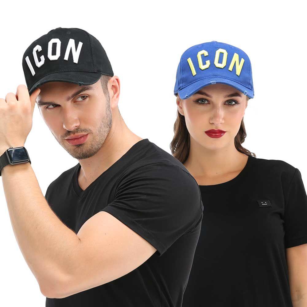 DSQICOND2 Snapback Cap Hats Baseball-Caps Black Letters Woman Dad for Hip-Hop Wholesale