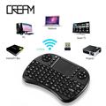 I8 Mini Teclado Ruso iPazzport Hebreo Árabe Teclados Gaming Teclado Inalámbrico con Touchpad para HTPC PC Samsung Smart TV