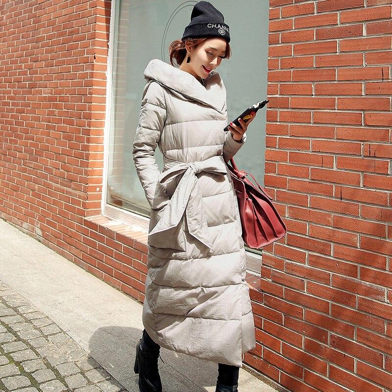 Nouvelle Épais La Rouge Capuche Femme Marque Hiver Slim Manteau Bas L'ukraine gris Le Et rouge Noir Plus Parka Vers Long D'hiver Veste Taille aH8qaxvrw