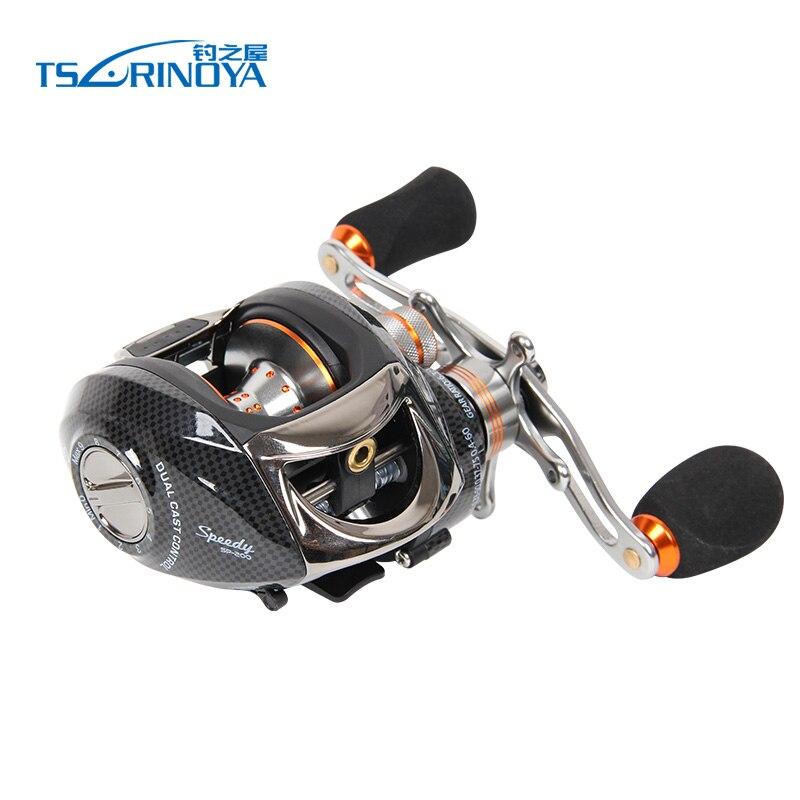TSURINOYA Baitcasting moulinet de pêche 14BB 6.3: 1 glisser 4 kg système de frein centrifuge et magnétique gauche droite bobine de poisson d'eau douce
