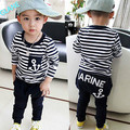 2016 2pcs Toddler Kids Baby Boy T-shirt Tops+Long Pants Trousers Outfits Clothing Set Sports Suit For Baby Kids Boy Clothes