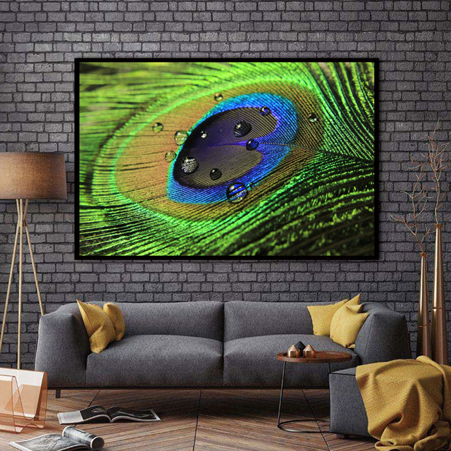 Xx3014 Wall Art Wall Decor Wall Painting Peacock Feathers Canvas Oil Painting Print Nice Painting For Wall Picture No Frame In Painting