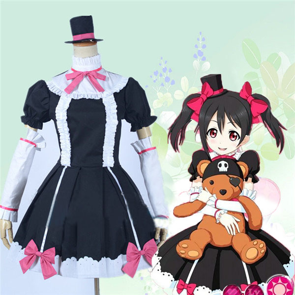 lovelive Yazawa Nico long lolita dress Anime Cosplay Costume for woman  Japanese halloween disfraces vestidos