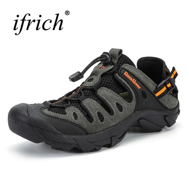 Новые мужские походная дышащяя обувь уличные Сандалии весна/лето туристические сандалии Большие размеры мужские кроссовки для альпинизма бренд