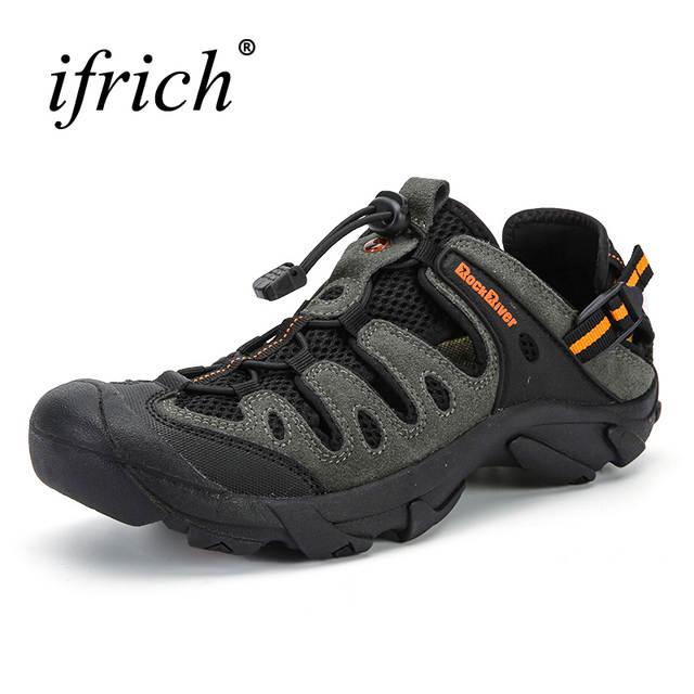 77ef000b4f92 New Men Hiking Shoes Breathable Outdoor Sandals Spring Summer Trekking  Sandals Big Size Men Mountain