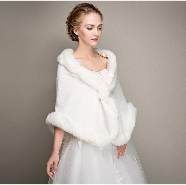 f5883237b Hombro longitud de 35 cm - 45 cm Sexy chaqueta de la boda nueva largo marfil