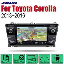 ZaiXi Android 2 Din Auto Radio DVD For Toyota Corolla 2013~2016 Car Multimedia Player GPS Navigation System Radio Stereo zaixi auto radio 2 din android car dvd player for toyota corolla 2013 2016 gps navigation bt wifi map multimedia system stereo