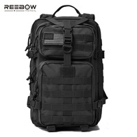 REEBOW TACTICAL Military Assault Pack Backpack Outdoor Hiking Backpacks Army Molle Waterproof Camping Bug Out Bag Rucksack