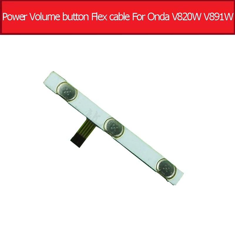 Original Switch On Off Power Volume Button Flex Cable For Onda V820W V891W Quad-core 8.0