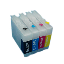 for brother LC10 LC37 LC51 LC57 LC960 LC970 LC1000  Empty refillable cartridge for brothDCP-130C 135C 150C DCP-330C DCP-350C original print head 960 for brother dcp130c 135c 150c 153c 157c 330c 350c dcp 540cn 560cn 750cn 750cw 770c 230c 240c printhead