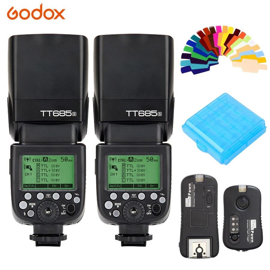 Godox TT685S 2.4g HSS TTL Luce del Flash Della Fotocamera Speedlite + TF-365 Trigger per Sony A77II A7RII A7R A99 A58 a6500 A6000 A6300