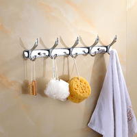 Bathroom Modern Hooks Wall Carving Robe Hooks 5 Row Hook Coat Hanger Door Hooks For Bathroom Accessories Hj321