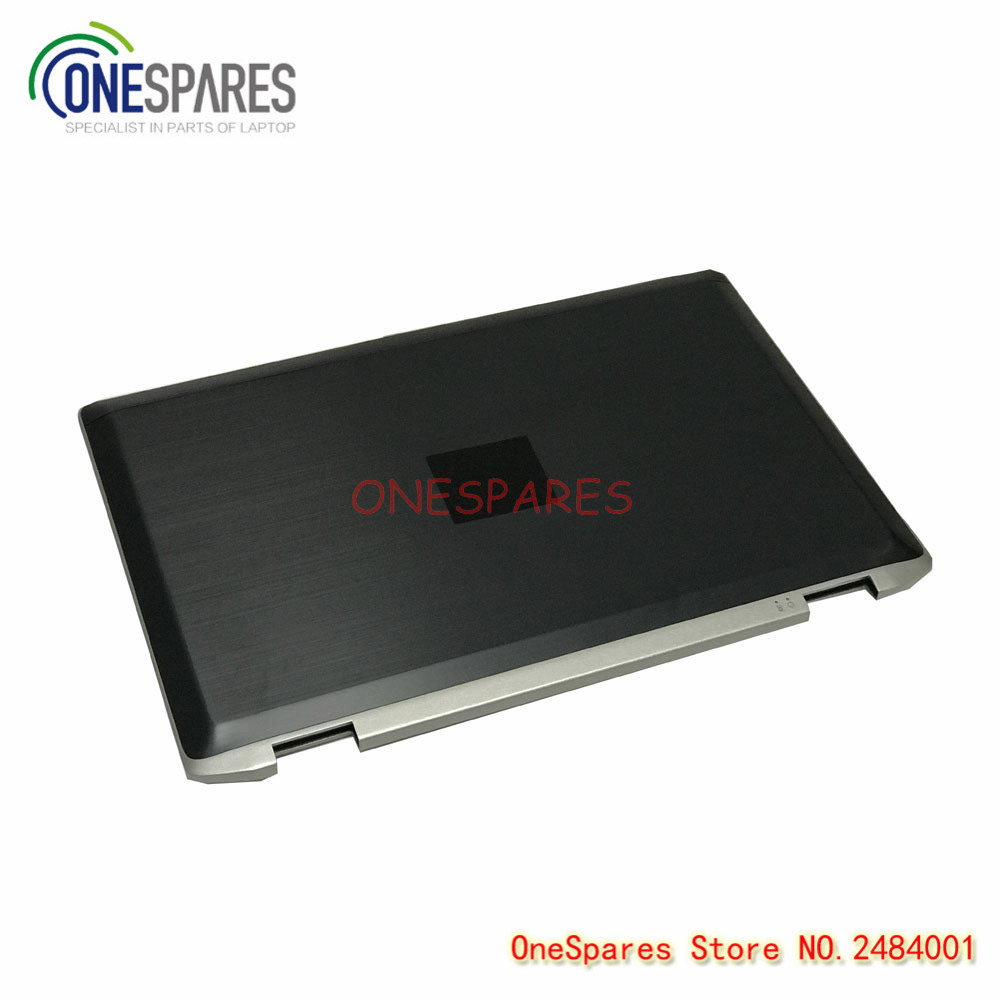 New Laptop LCD Screen Back Cover Lid With Hinges For Dell Latitude E6520 Sereies 15.6