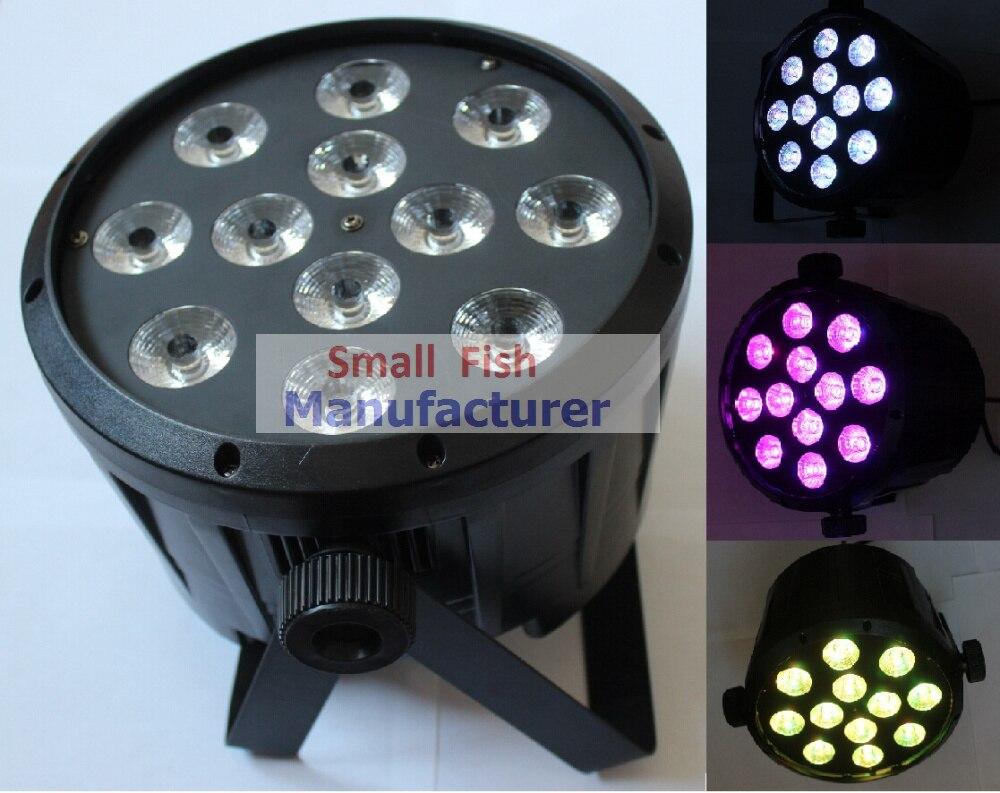 Eyourlife 8XLot Free shipping 12x10W 4in1 RGBW LED Bulb Par Stage Light Party Lamp Disco DJ DMX Laser Projector Lights Hot Sale