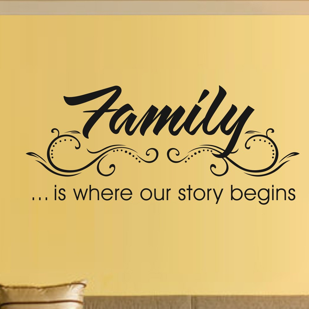 2018 Family Beautiful Wall Stickers Home Words Decor Wall Sticker ...